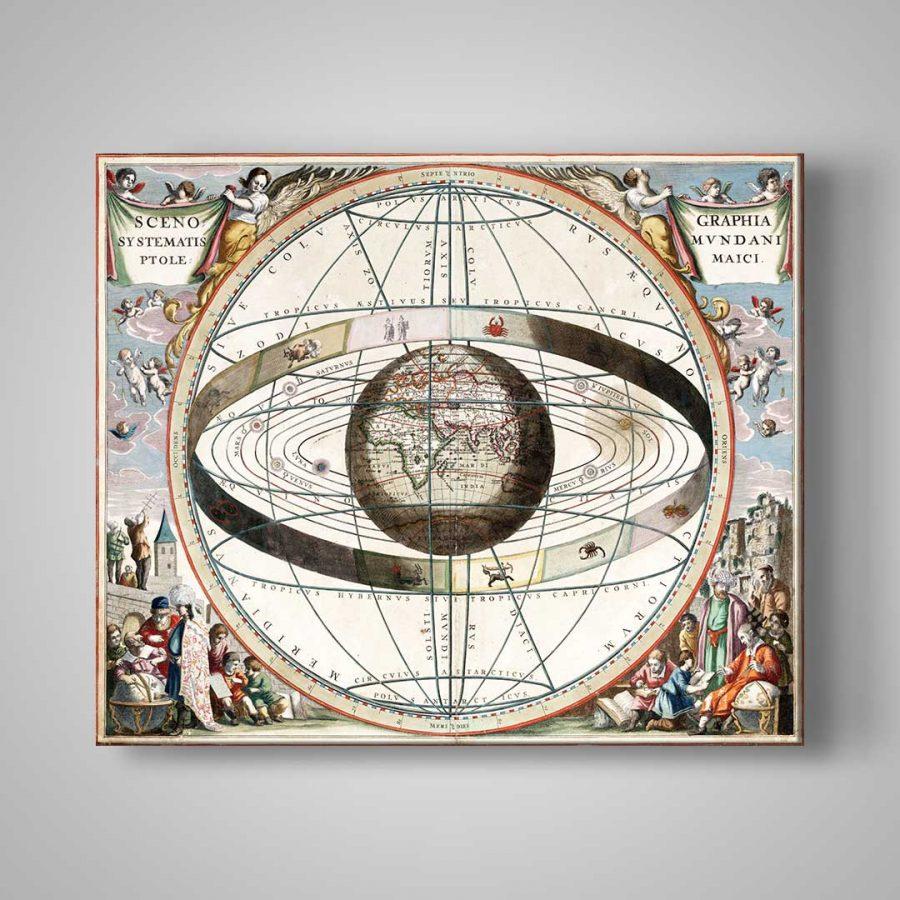 Eski Dünya  Kanvas Tablo 1